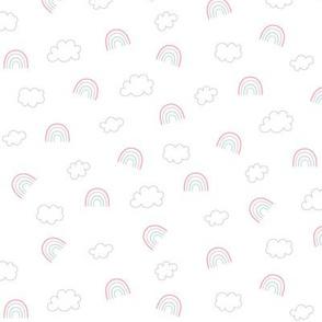 panda dreams rainbows + clouds small