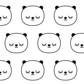 panda dreams panda sleepy faces