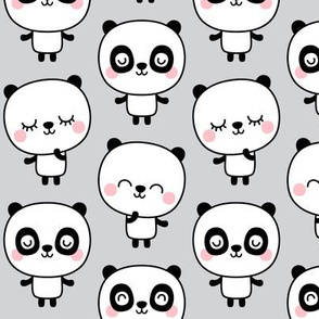 panda dreams cheeky pandas stacked on light grey