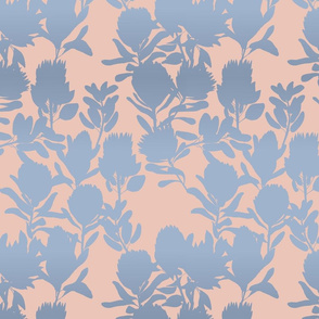 protea peach blue