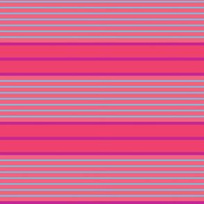 Wide Stripe Cerise