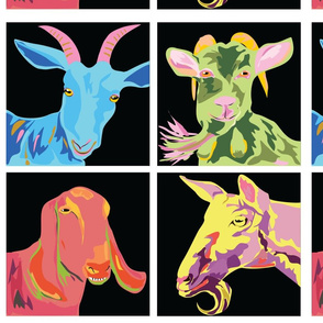 Technicolor dream goats