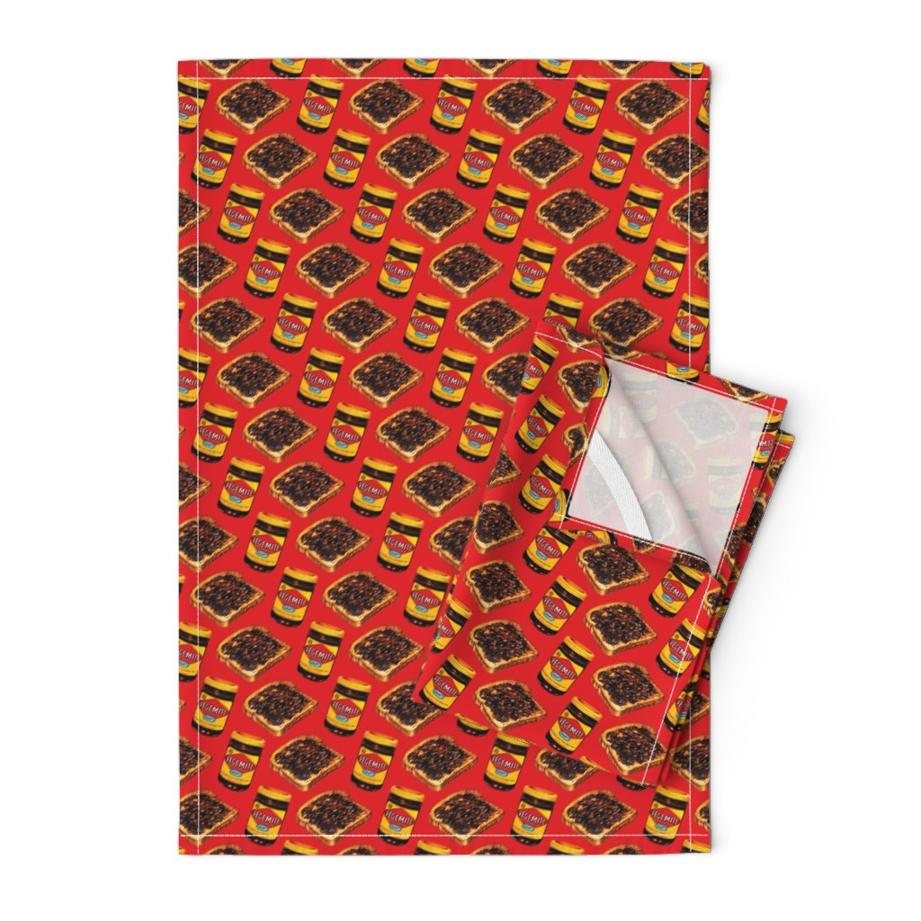 Orpington Tea Towels featuring Vegemite & Toast Pattern by kellygilleran