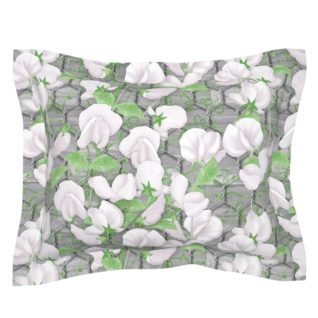 Sebright Pillow Sham featuring Sweet Pea by j9design