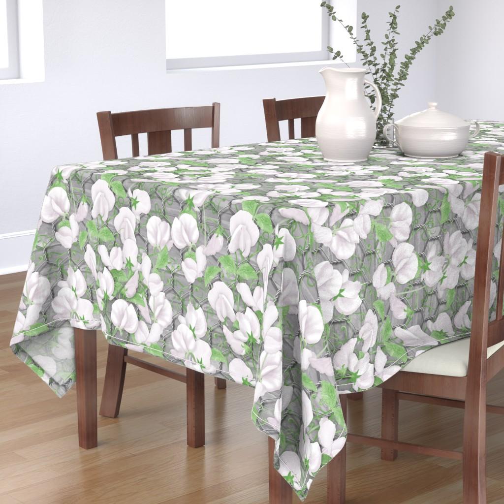 Bantam Rectangular Tablecloth featuring Sweet Pea by j9design