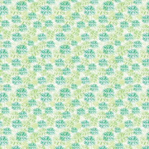 Stamped Floral Green
