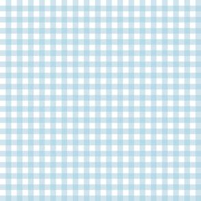 Gingham pastel blue