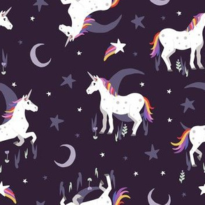 Moonlit Unicorn - Twilight Purple