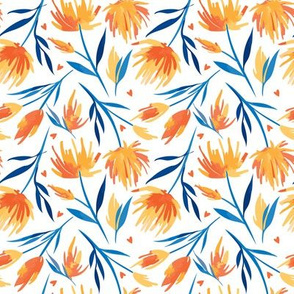bright summer floral pattern