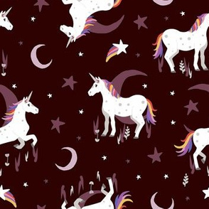 Moonlit Unicorn - Rose Red