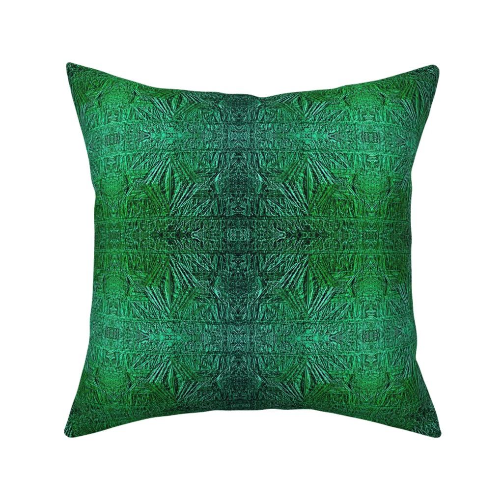 Catalan Throw Pillow featuring Emerald Foil 1500 by wren_leyland