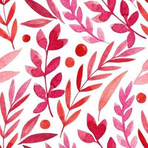 watercolor floral autumn pattern