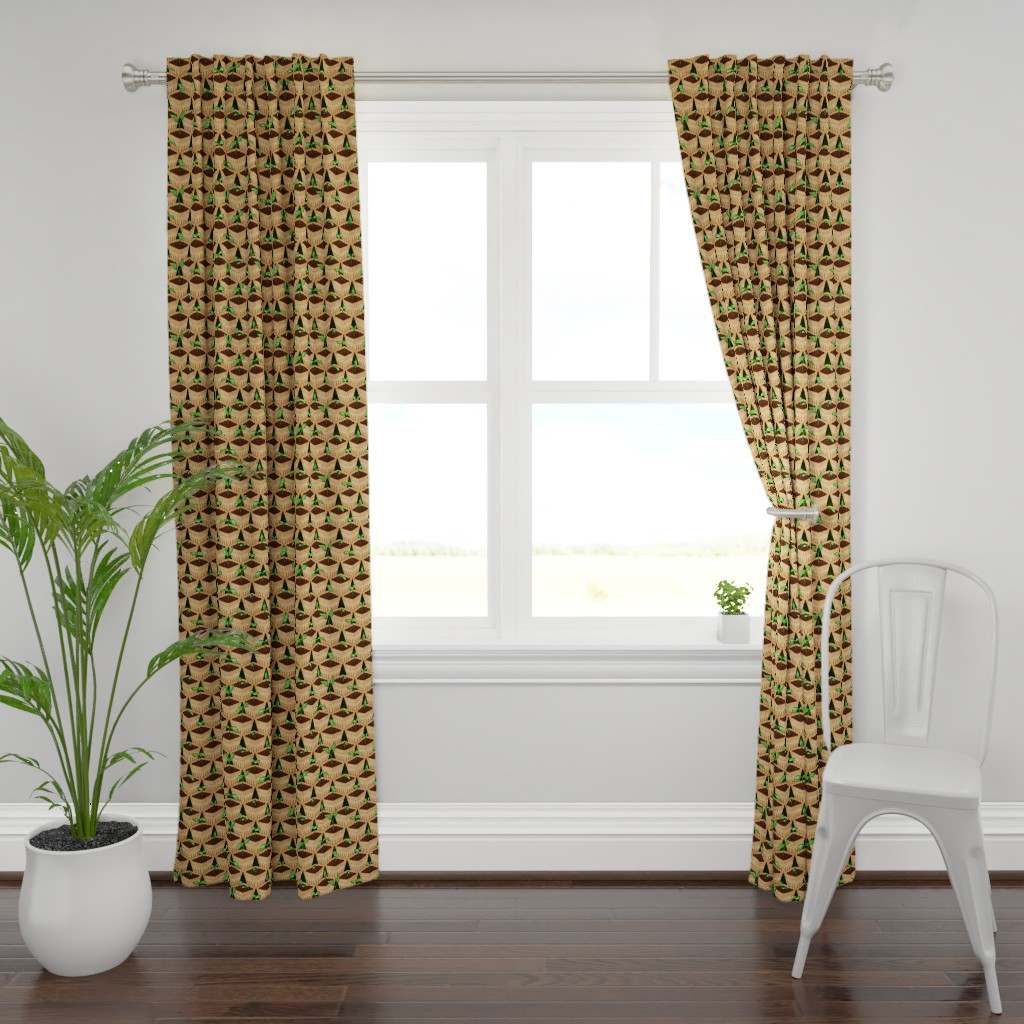 Plymouth Curtain Panel featuring Sprouting by jadegordon