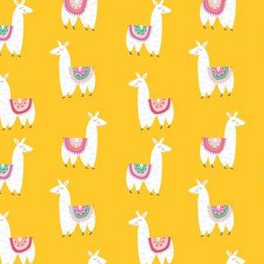 Llamas Alpacas in Yellow
