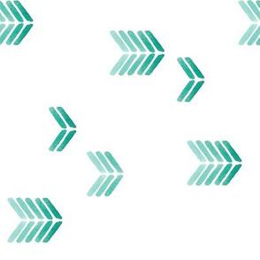 watercolor minimalist arrows green