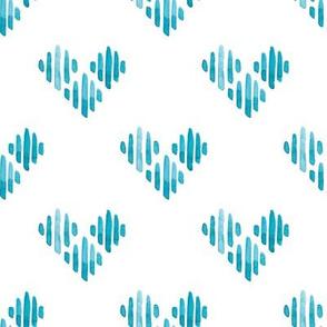 watercolor geometry hearts