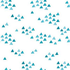 watercolor triangles blue