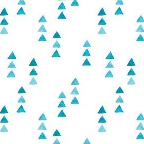 Watercolor minimalist cute design. triangle illustration