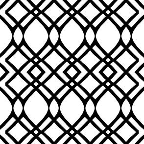 Geometric Monochrome Black and White Geometry Line Pattern