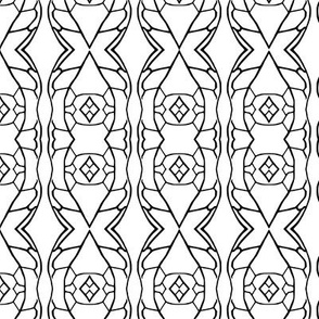 Monochrome Stained Glass Pattern