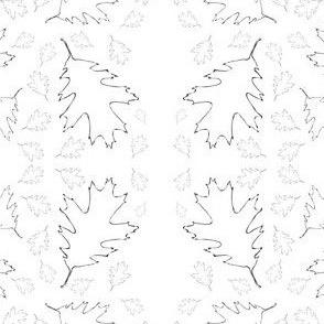 Oak Leaf Outline Kaleidoscope Pattern