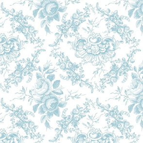 Lady Mary's Roses Mint Floral Toile