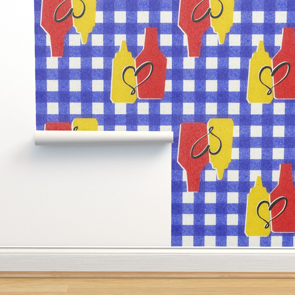 Isobar Durable Wallpaper featuring condiment love by ghouk