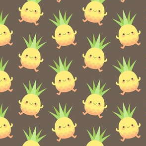 Happy pineapple kids brown