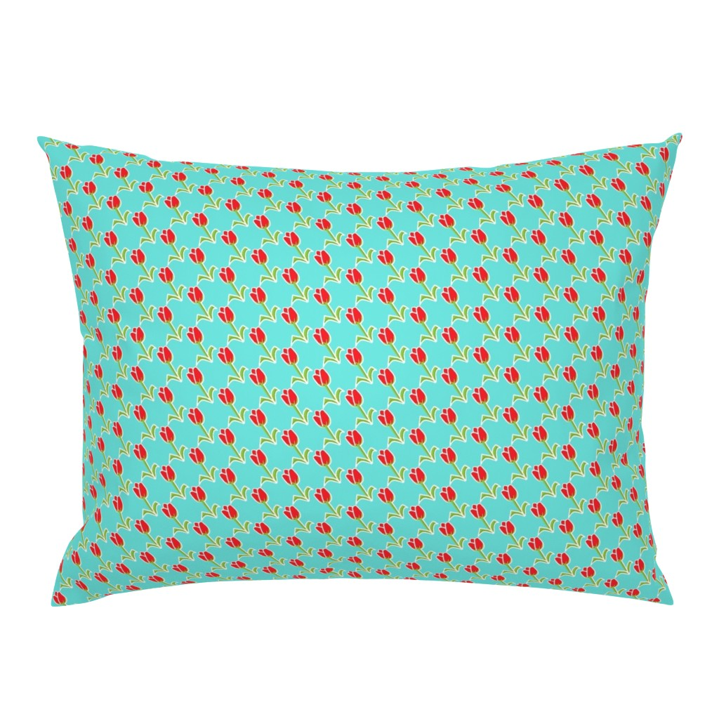 Campine Pillow Sham featuring Love Your 2 Lips blue by franbail