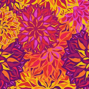 Geometric colorful flowers