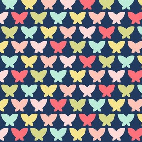 butterflies on navy || sugared spring