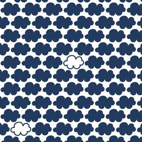 clouds navy || sugared spring