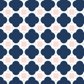quatrefoil dot navy || sugared spring