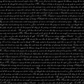 Austen Pride Text Black and White