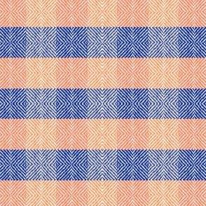 Diamond Tweed Plaid Orange and Blue