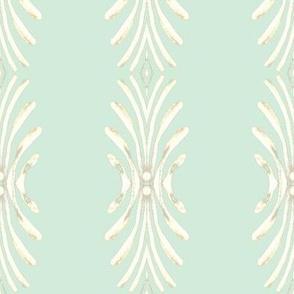 Plume - white on aqua