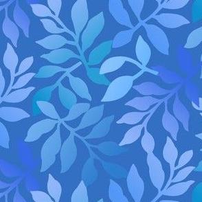 Daisy Leaf/ Gradated Blues and Aquas
