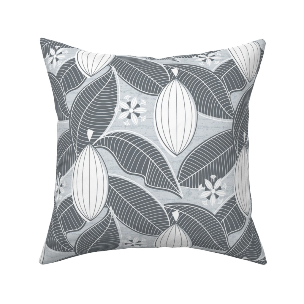 Catalan Throw Pillow featuring Cacao Farmhouse_Fresh Dawn by mia_valdez