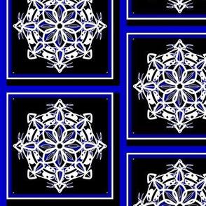 Midnight Snow Snowflake Squares