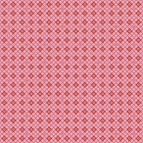 Checkered pattern pink