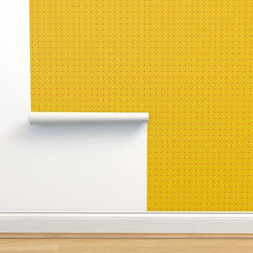 Checkered pattern yellow - Spoonflower