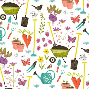 gardening in springtime