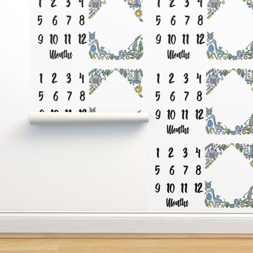 Isobar Durable Wallpaper featuring Miletones Months Blanket Kings by greenmountainfabric