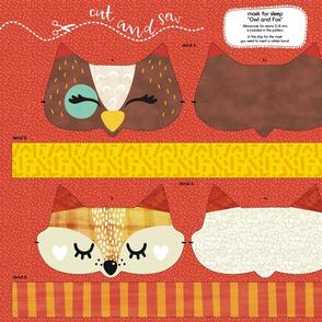 sleep mask Owl and Fox