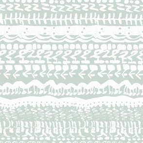 Tribal abstract light grey and white