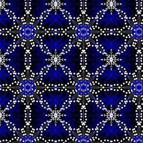 Midnight Snow Snowflake Lace