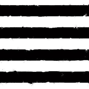 distress stripe flatitude black white