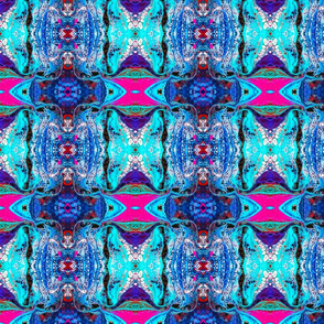 Psychedelic Snowscape  Small Print