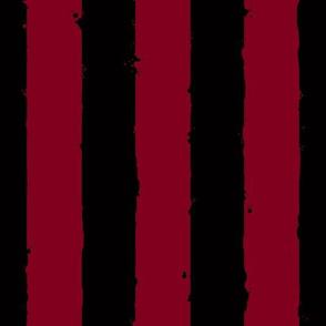distress wide stripe black burgundy