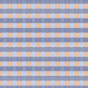 Gator Glory Tweed Plaid Orange and Blue